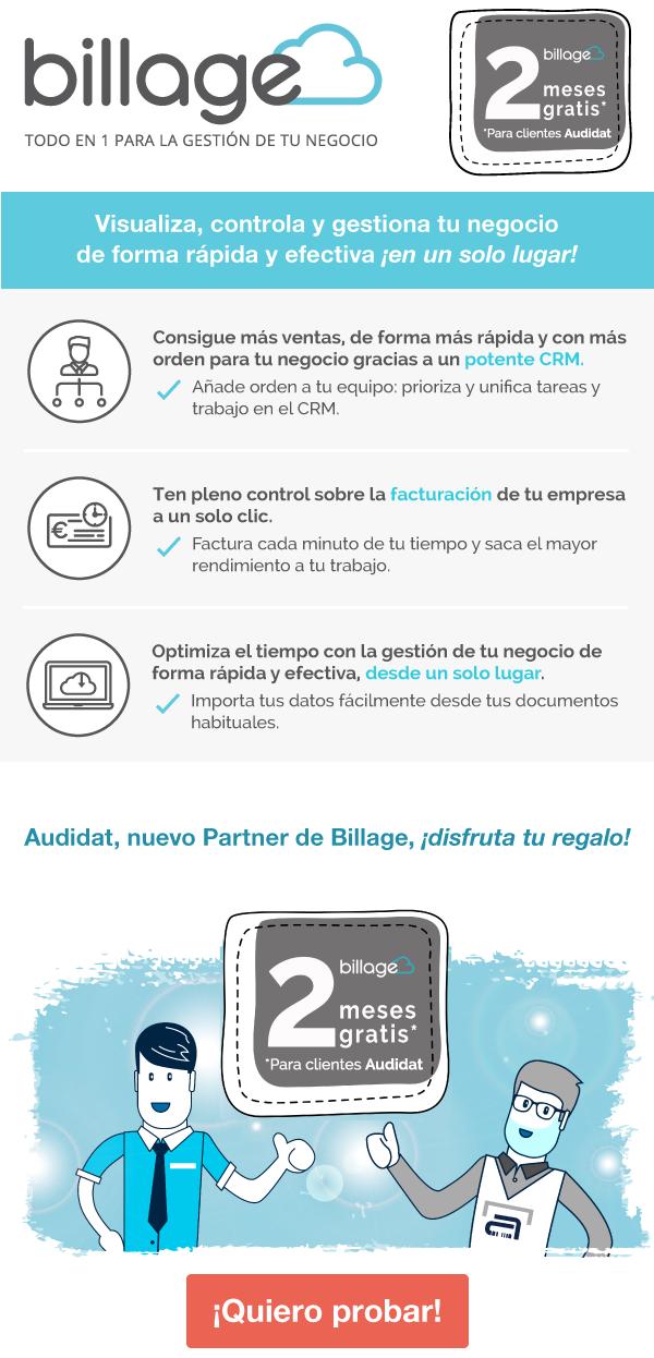 Billage: Programa de facturación online con CRM y tareas